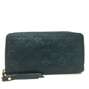 100% Auth Louis Vuitton Long Empreinte Leather Zip